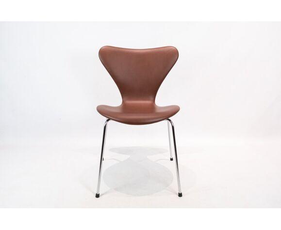 Ensemble de 4 chaises, modèle 3107, conçu par Arne Jacobsen et fabriqué par Fritz Hansen
