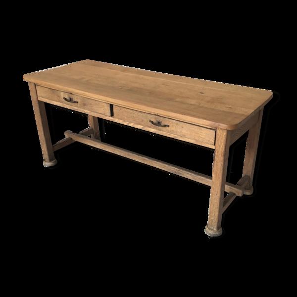 Table de ferme à tiroirs - XXe siècle