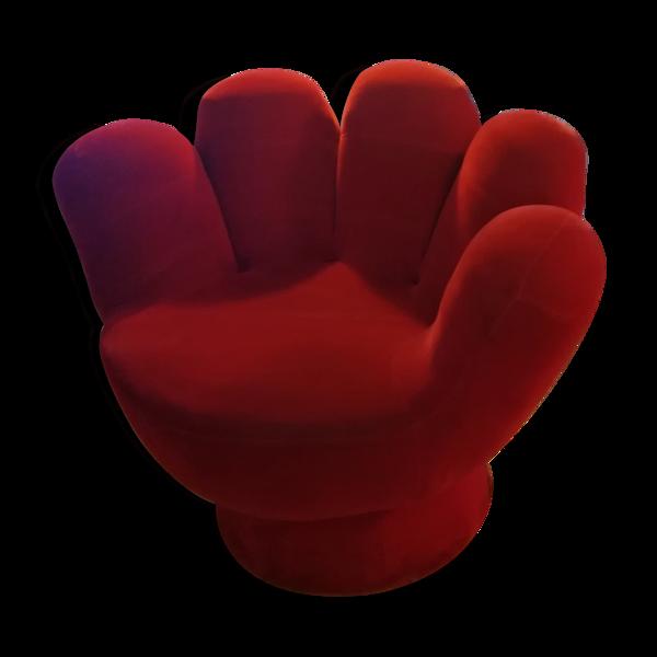 Fauteuil années 60/70 main vintage rouge