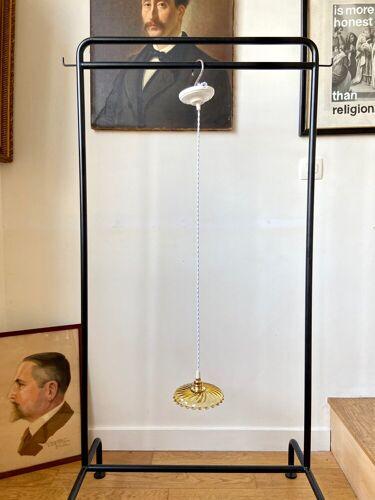 Suspension en verre ambré