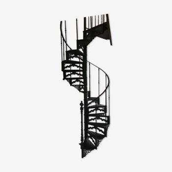 Escalier colimaçon style art déco en fonte de fer