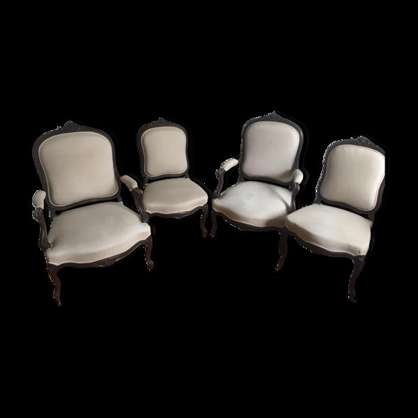 Suite de fauteuils style Louis XVI