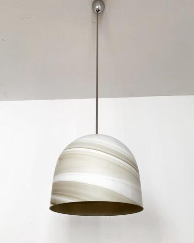 Suspension en verre de conception de marbre de Carrare par Peill et Putzler