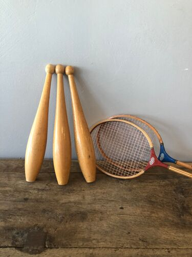 Set de 3 quilles de jonglage vintage