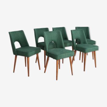 Chaises Shell polonaises de Bydgoszcz Furniture Factory, années 1960, Ensemble de 6