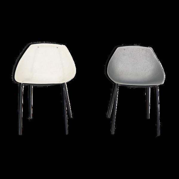 Selency Ensemble de 2 chaises Pierre Guariche pour Meurop «shell» France années 1950