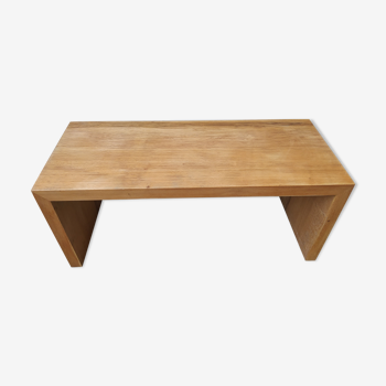 Table basse d'appoint rectangulaire design bois en fraké
