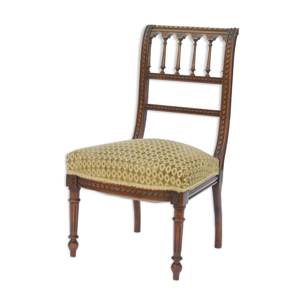Chaise basse en noyer