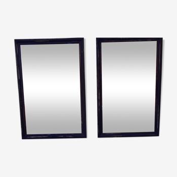 Paire de miroirs de bistrot 203x140cm