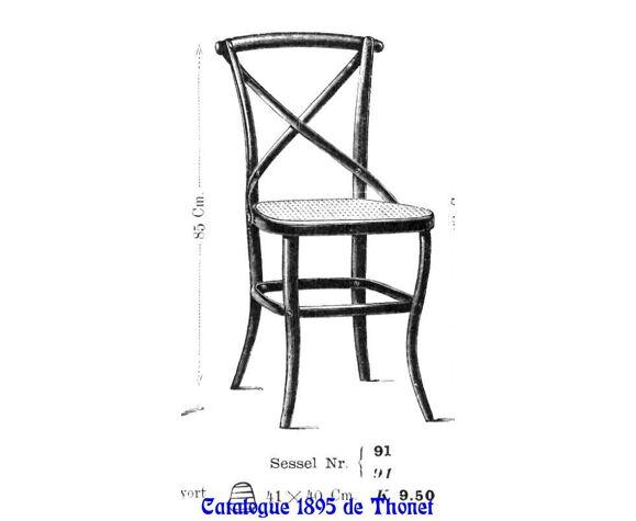 Chaises Lattenstuhl N°145 par Kohn vers 1904
