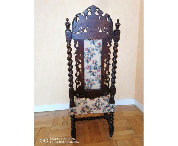 Chaise de nourrice style Louis XIII