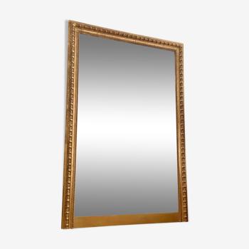 Miroir ancien louis philippe rectangulaire doré feuille d'or