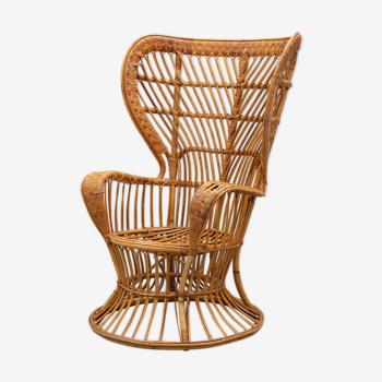 Bonacina armchair by Gio Ponti in rattan