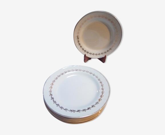 8 assiettes plates Suzy / Digoin