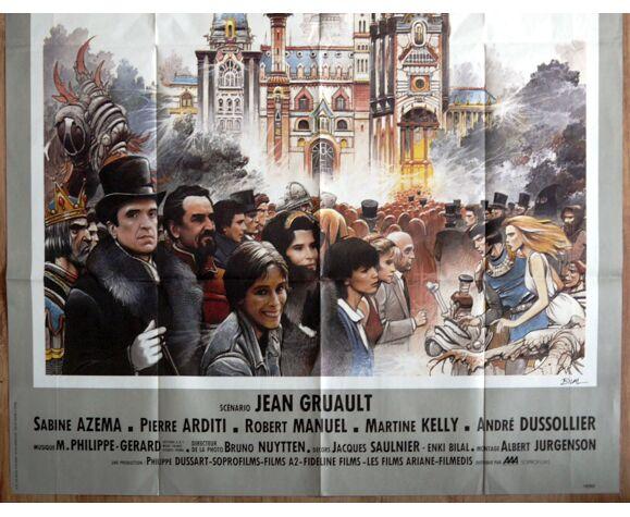 """Affiche cinéma originale """"la vie est un roman"""" Alain Resnais, Bilal"""