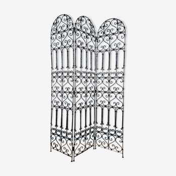 Wrought iron screen