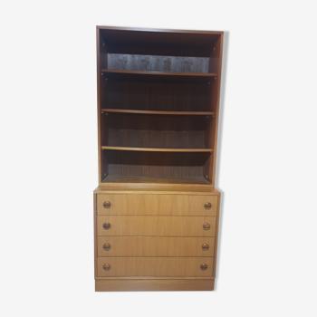 Bibliothèque teck danoise vintage
