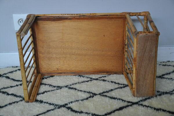 Table basse en Rotin/Bambou Vintage