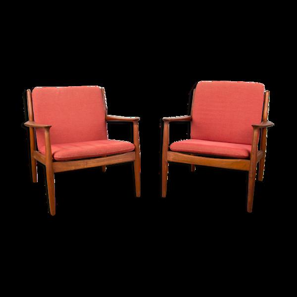 Selency Paire de fauteuils danois en teck modèle GM5 par Svend Age Eriksen pour Glostrup 1960