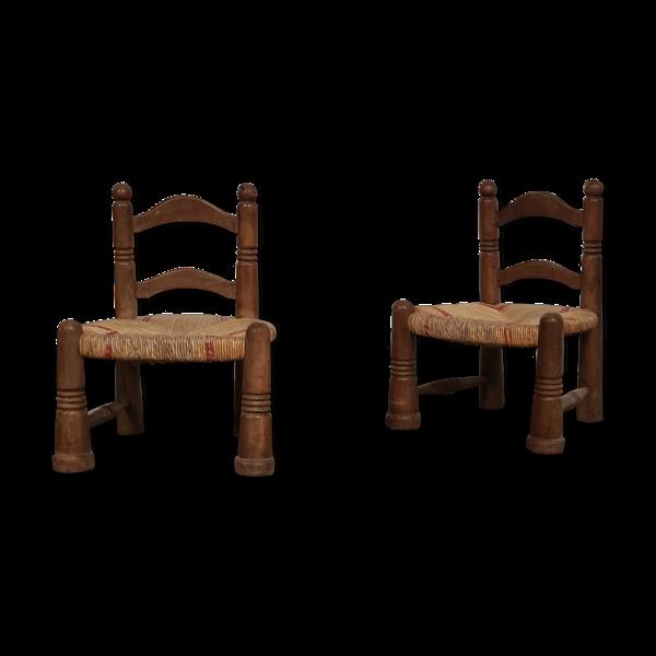 Paire de fauteuils chauffeuses