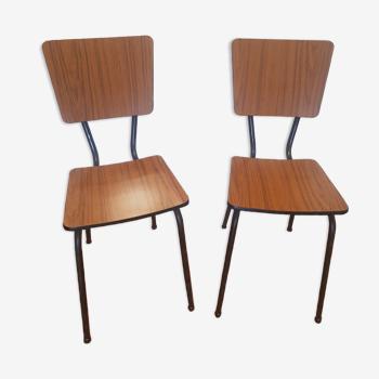 Lot de 2 chaises en formica