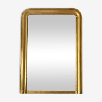 Miroir cheminée trumeau Louis Philippe bois doré