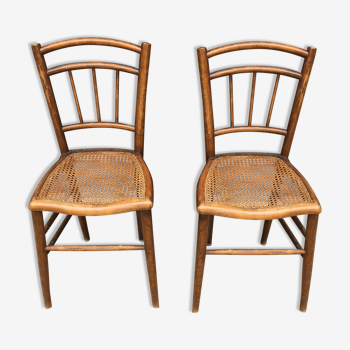 Duo de chaises bistrot cannée 1900
