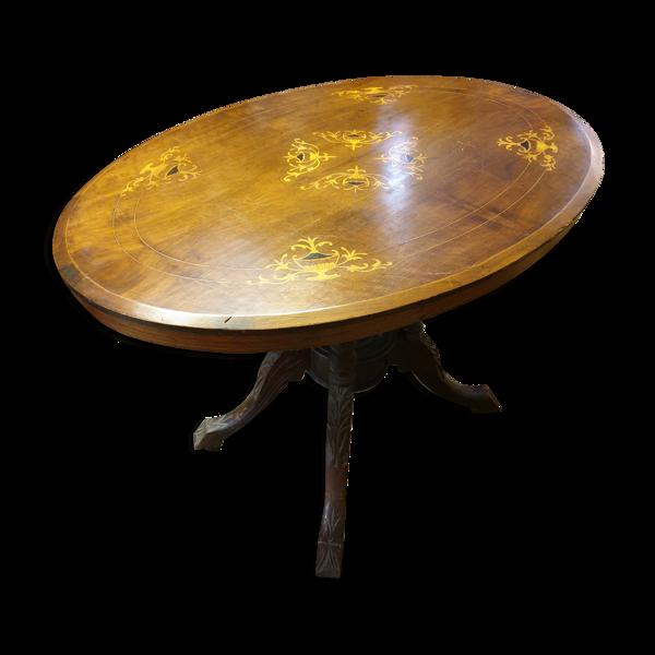 Selency Table à thé marquetée