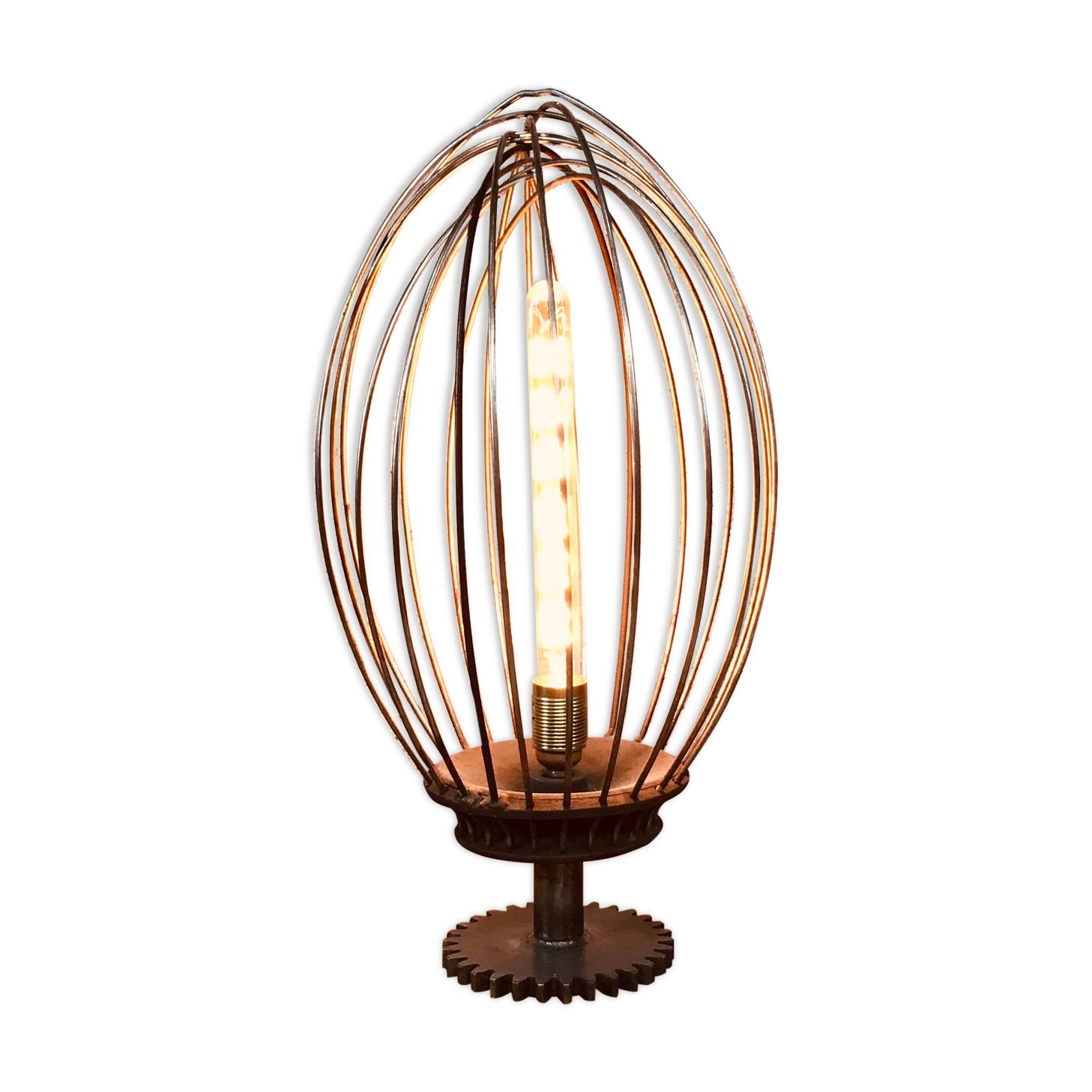 Lampe de table design patisserie batteur industriel restaurant bistrot vintage