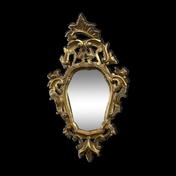 Miroir en bois doré, Italie début XXème siècle - 75x44cm