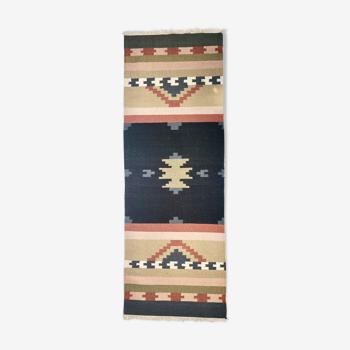 Kilim oriental en pur laine 88cm x 245cm