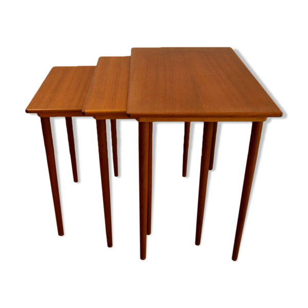 Selency 3 tables gigognes Elsteds Möbelfabrik Agerbaek Made In Denmark