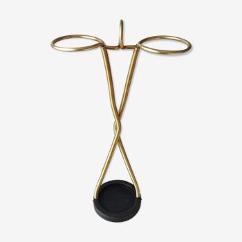 Porte-parapluie vintage en métal des années 1970