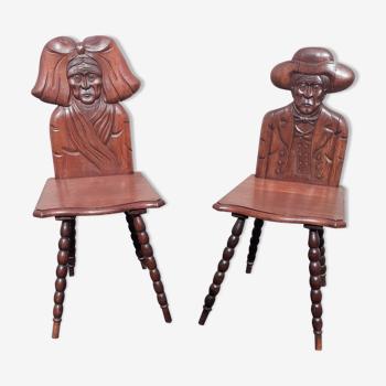 Paire chaises Alsacienne