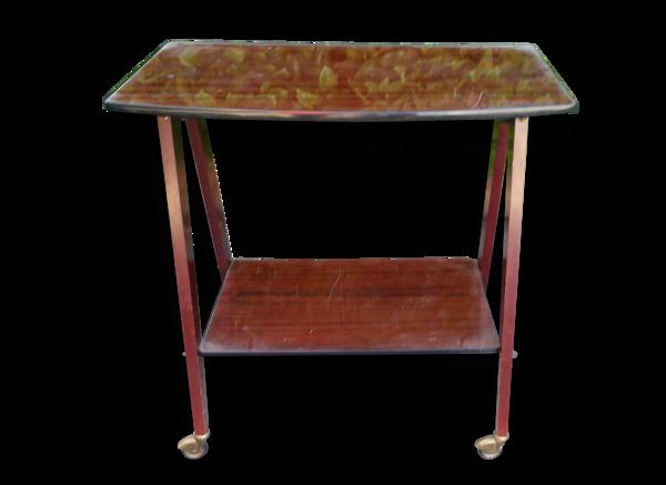 Table vintage a roulettes