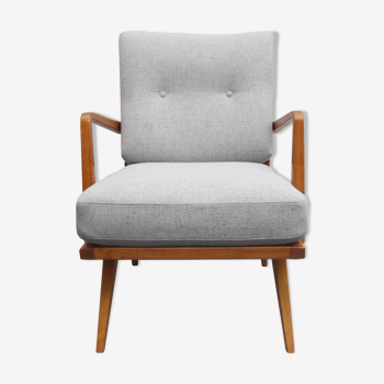 Armchair in cherrywood from Knoll Antimott 1950