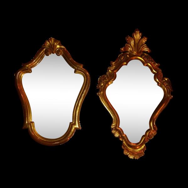 Paire de miroirs style baroque