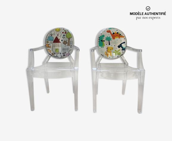 2 fauteuils chaises Lou Lou de ghost kartell de Philippe Starck