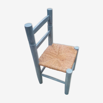 Blue patina child low chair