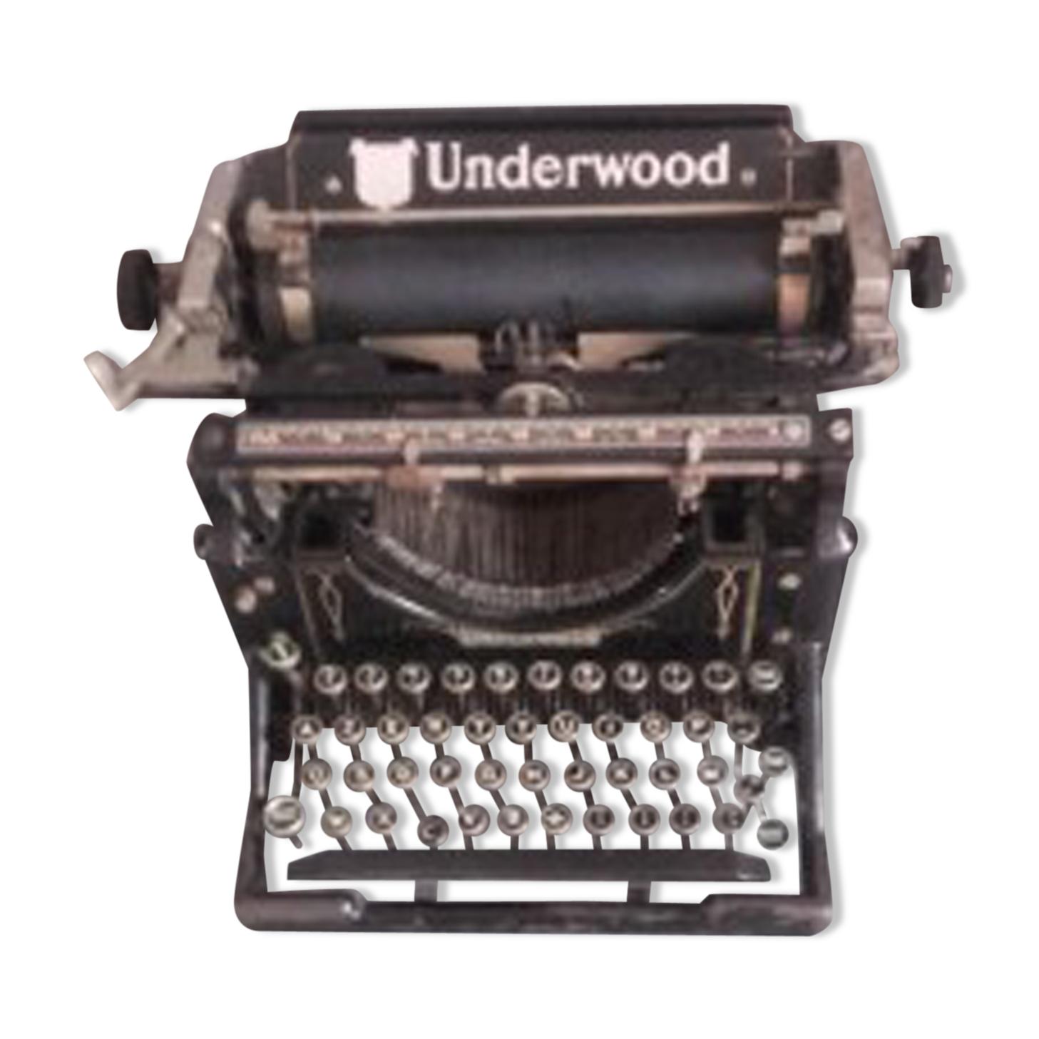 Machine à écrire underwood fin 19e siècle début 20e siècle