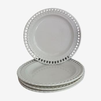4 assiettes dentelle