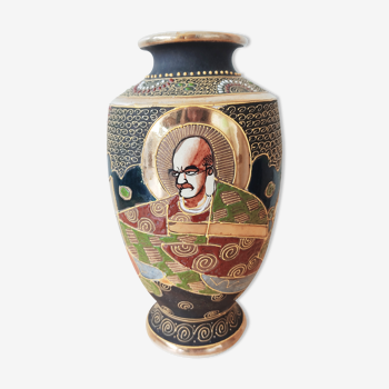 Vase japonais Satsuma milieu 20e