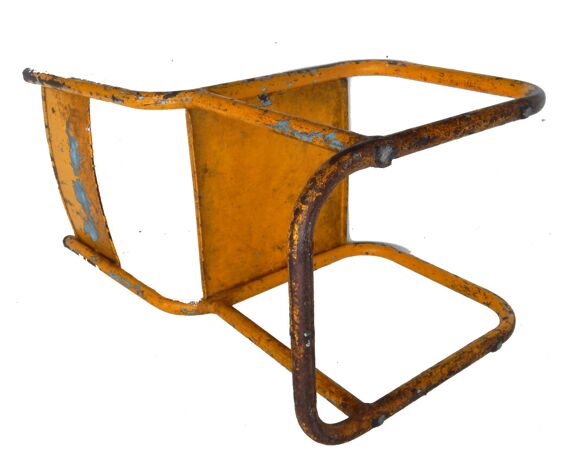 Yellow metal old child chair
