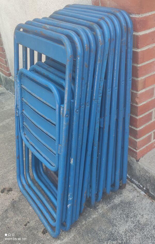 Série de 10 chaises en métal ESH