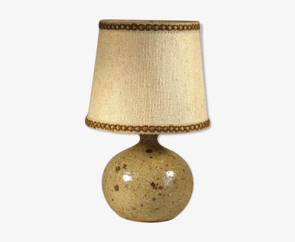 Lampe en grès et tissu  1970