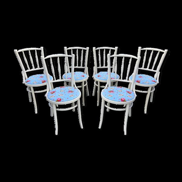 Suite de 6 anciennes chaises bistrot