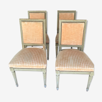 4 chaises de style Louis XVI