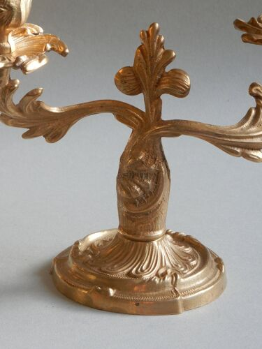 Chandeliers en laiton candélabres français des années 30