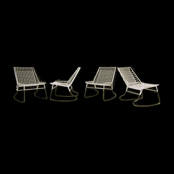 Ensemble de 4 rocking chairs Cees Braakman produits par Pastoe
