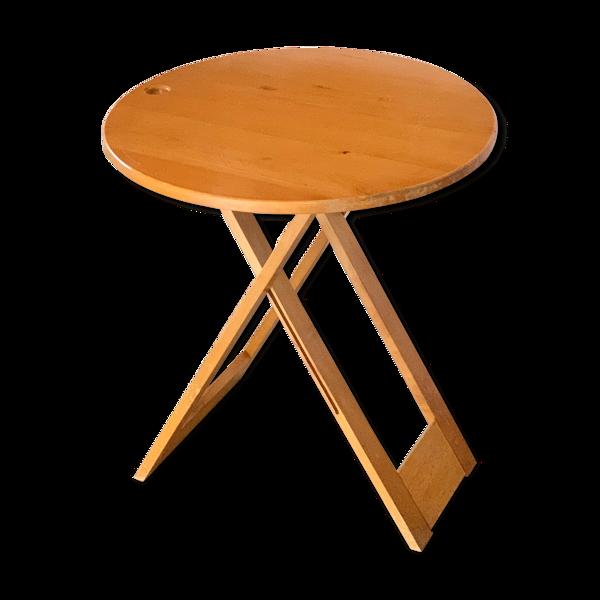 Selency Table pliante en bois années 70